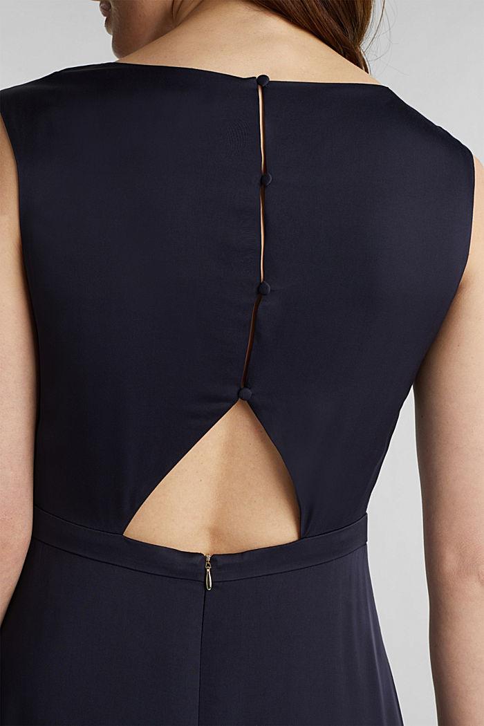Satijnen maxi-jurk van LENZING™ ECOVERO™, NAVY, detail image number 3