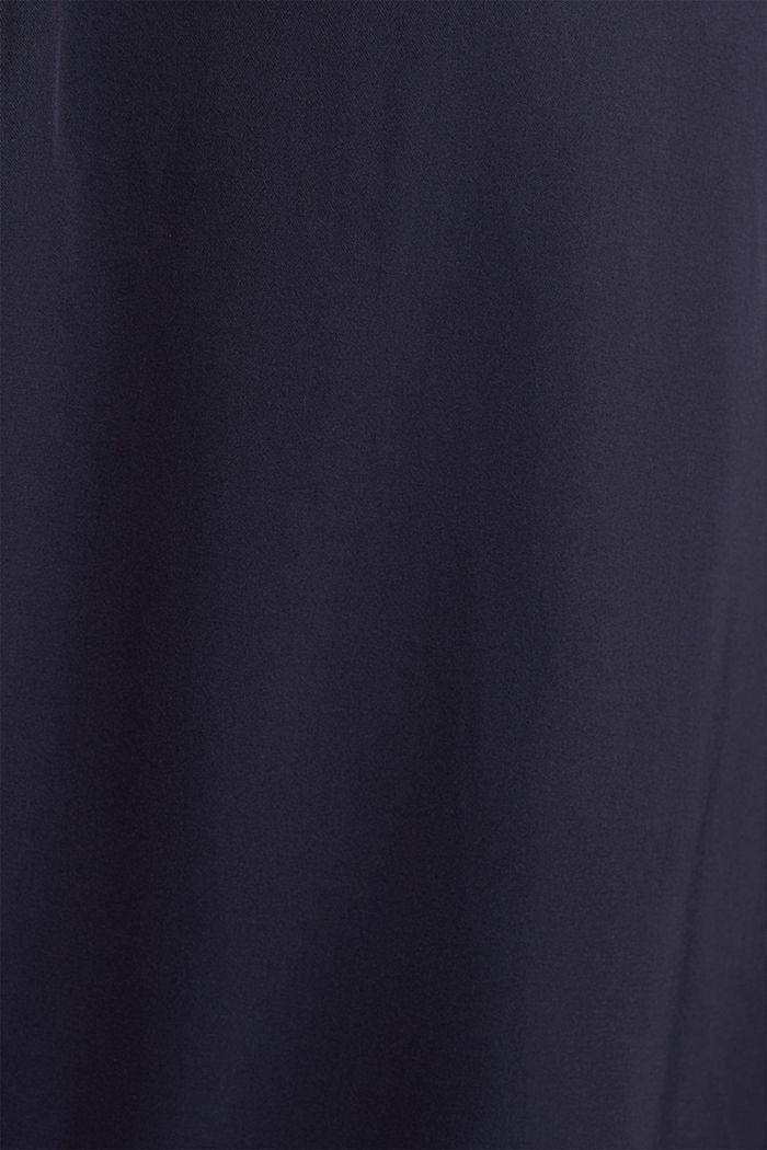 Satijnen maxi-jurk van LENZING™ ECOVERO™, NAVY, detail image number 4