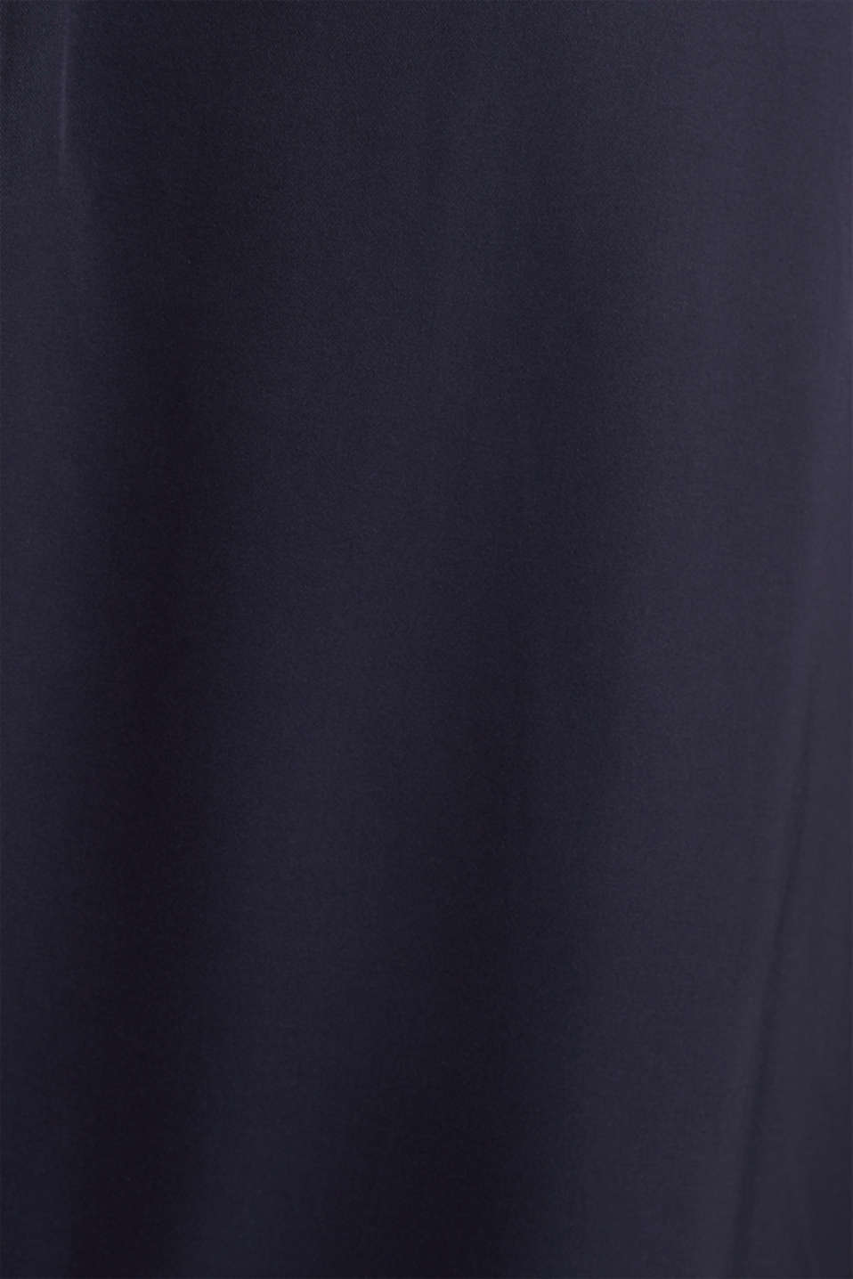 Satin maxi dress made of LENZING™ ECOVERO™, NAVY, detail image number 4