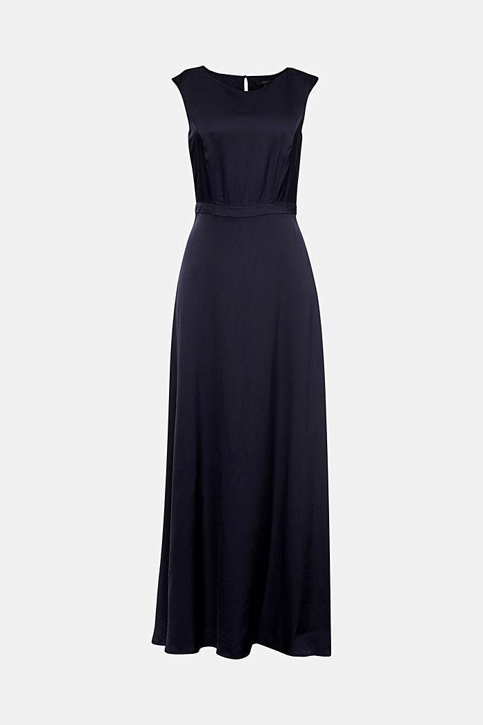 Satijnen maxi-jurk van LENZING™ ECOVERO™