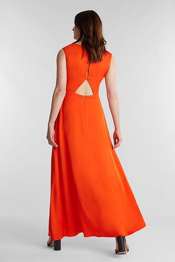 Satin maxi dress made of LENZING™ ECOVERO™, RED ORANGE, detail image number 2