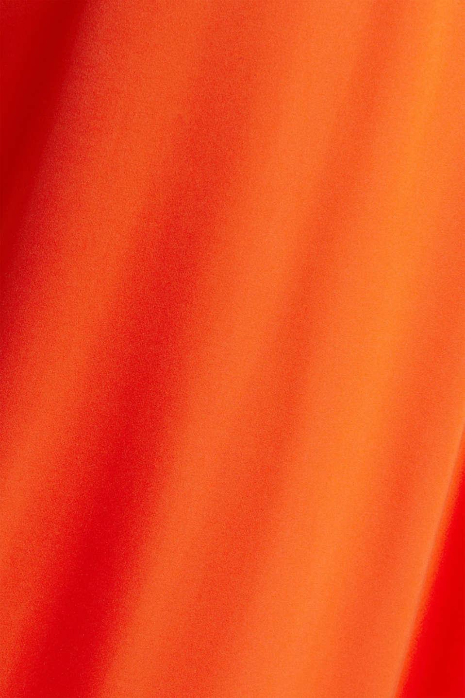 Satin maxi dress made of LENZING™ ECOVERO™, RED ORANGE, detail image number 4