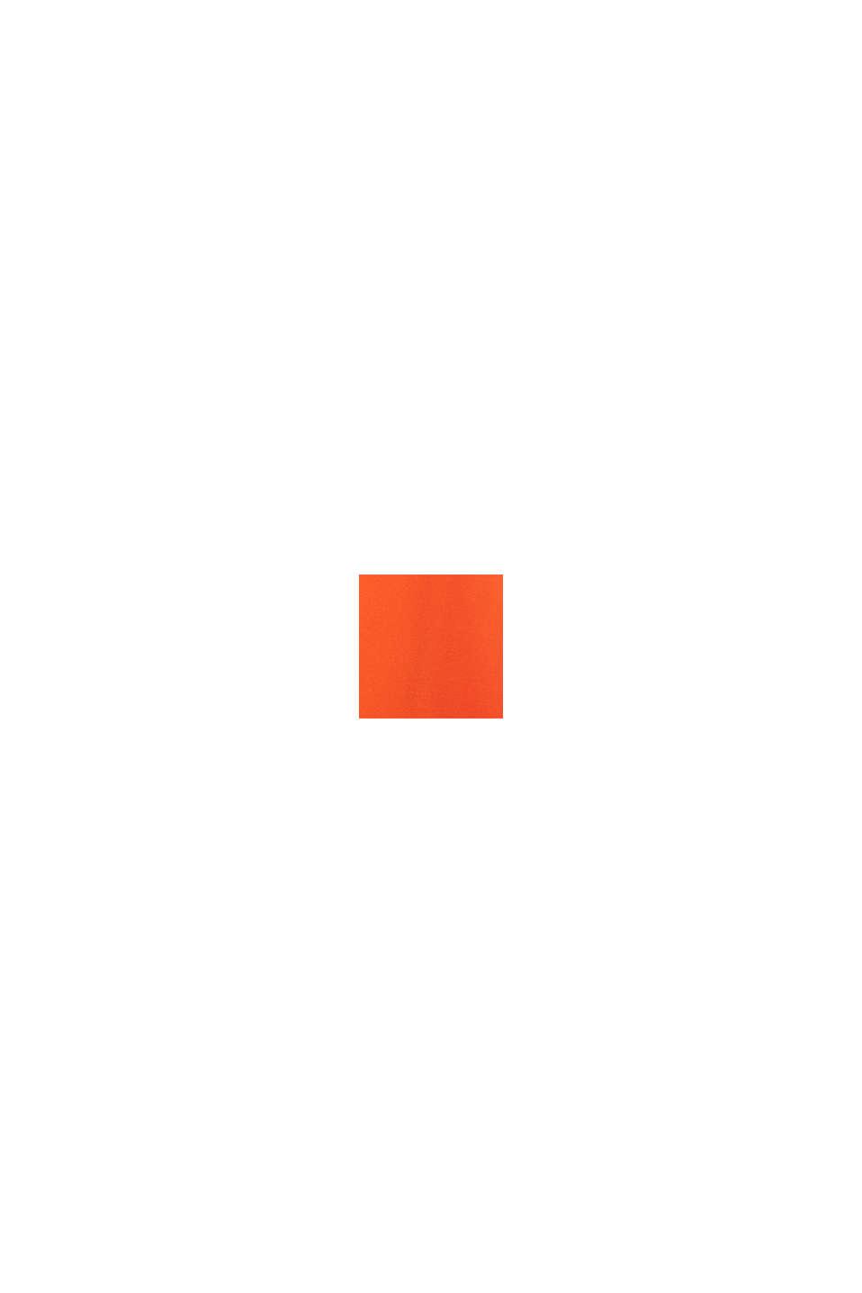 Satin-Maxikleid aus LENZING™ ECOVERO™, RED ORANGE, swatch