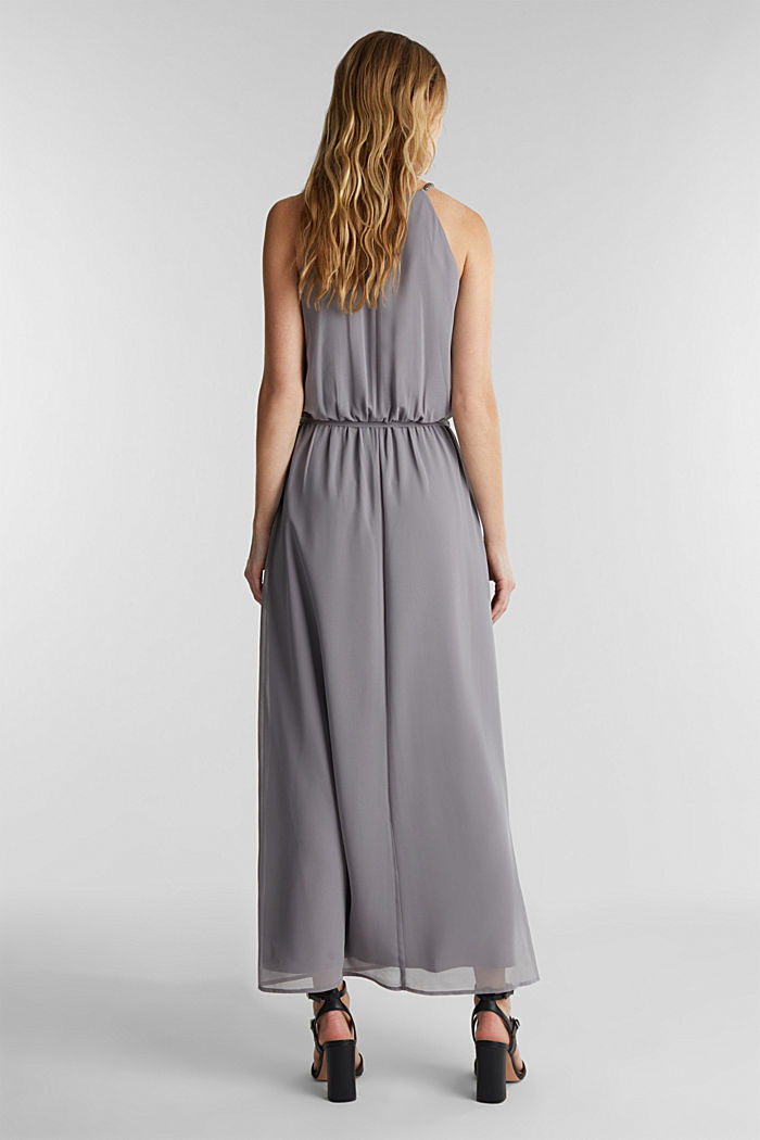 Recycled: maxi chiffon dress, GREY, detail image number 2