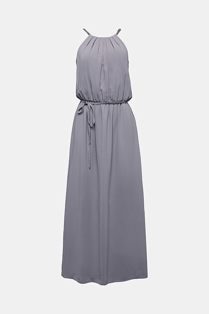 Recycled: maxi chiffon dress, GREY, detail image number 5