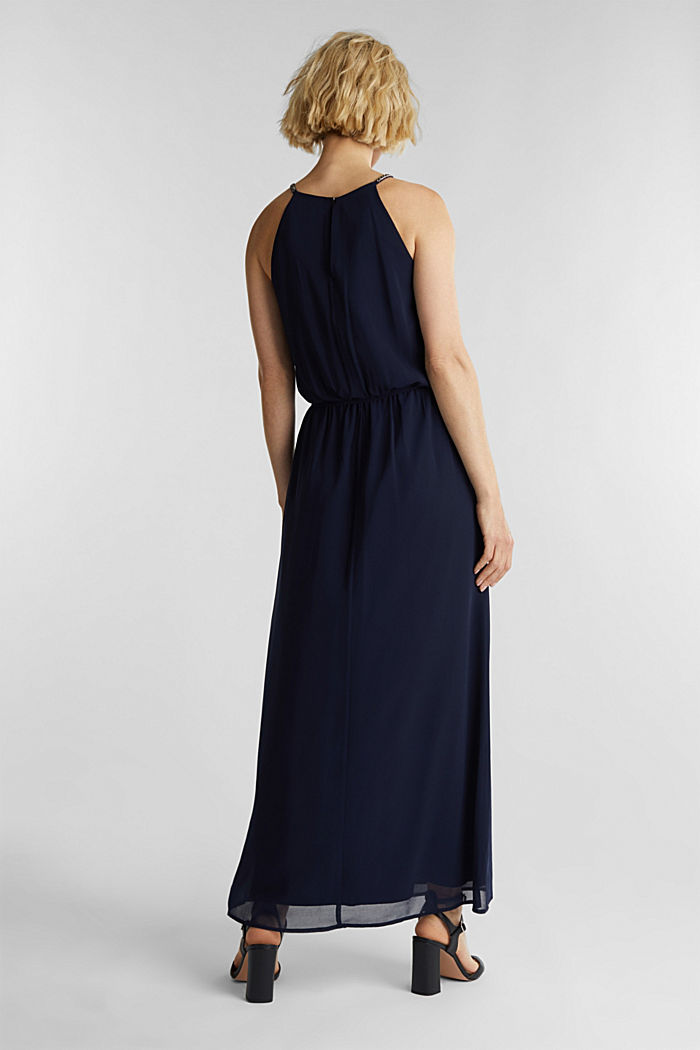 Recycled: maxi chiffon dress, NAVY, detail image number 2