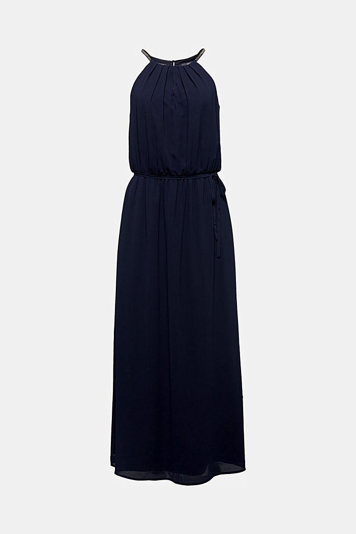 En matière recyclée: robe maxi-longueur en mousseline