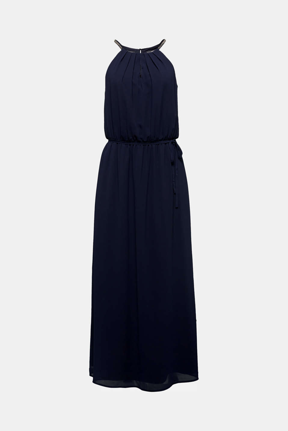 Recycled: maxi chiffon dress, NAVY, detail image number 5