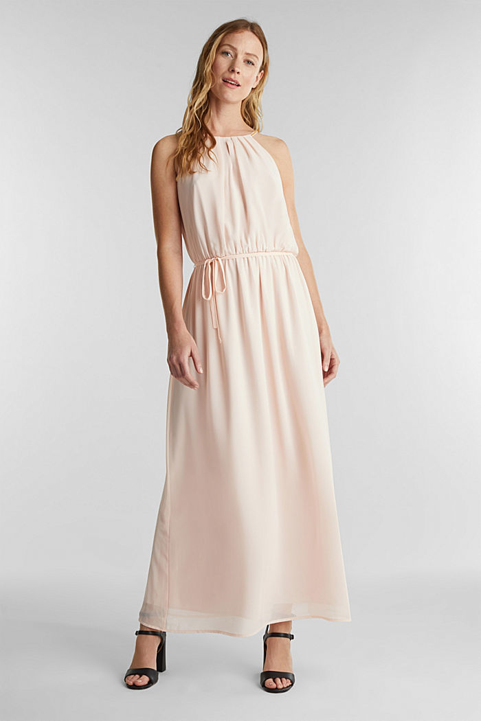 Gerecycled: maxi-jurk van chiffon