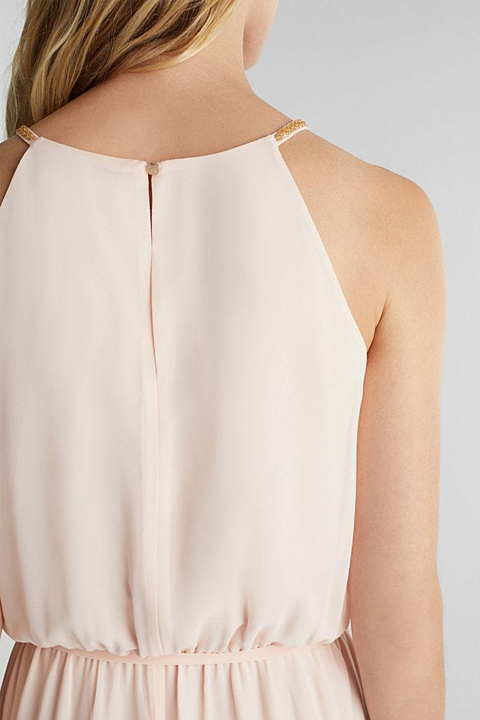 Recycled: maxi chiffon dress, PASTEL PINK, detail image number 3