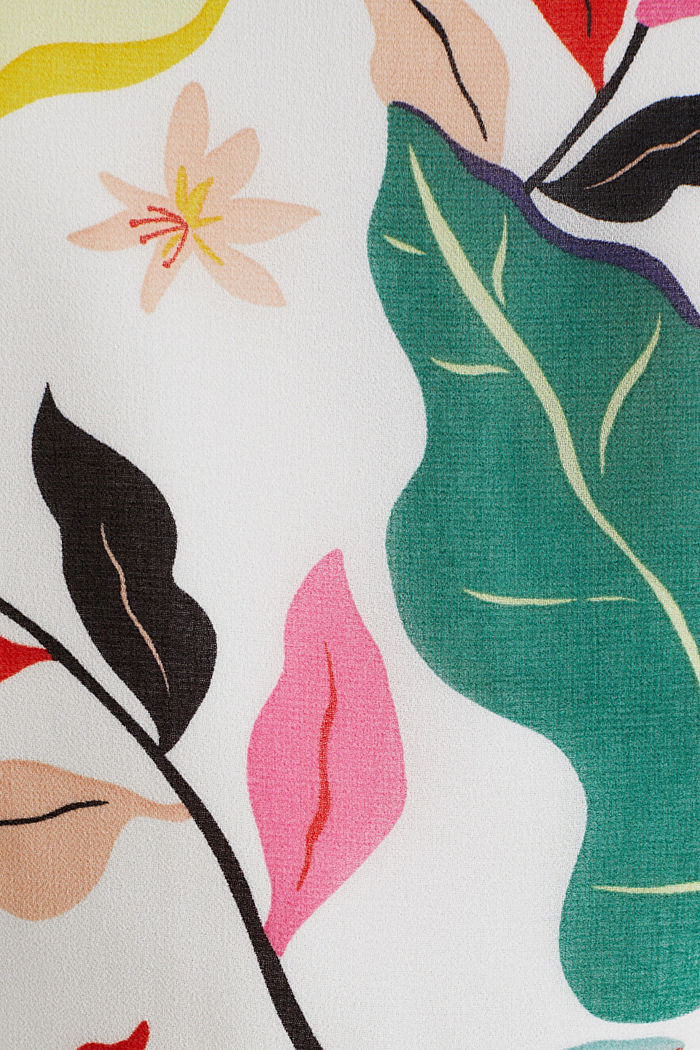 Chiffon dress with floral print, OFF WHITE, detail image number 2