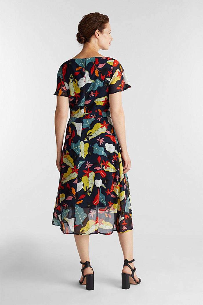 Chiffon dress with floral print, NAVY, detail image number 2