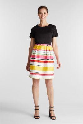 Cotton satin belted dress, WHITE 3, detail