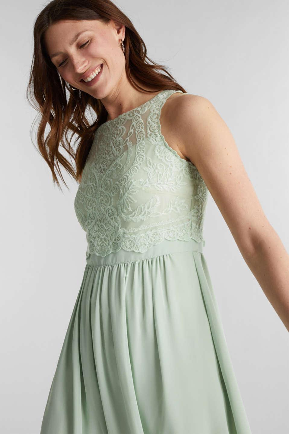Esprit - Midi-Kleid aus Chiffon und Spitze im Online Shop kaufen
