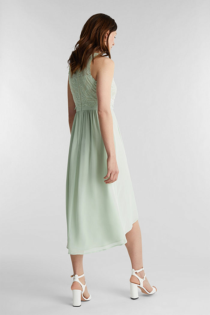 Midi dress made of chiffon and lace, PASTEL GREEN, detail image number 2