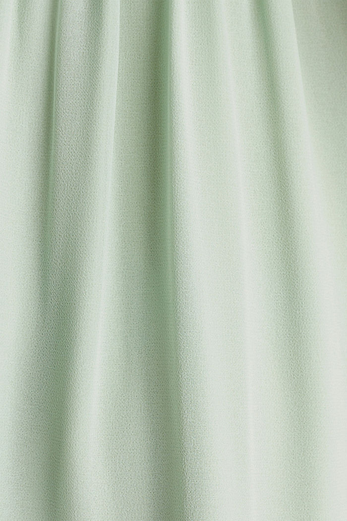 Midi dress made of chiffon and lace, PASTEL GREEN, detail image number 4