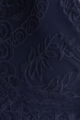 Midi dress made of chiffon and lace, NAVY, detail