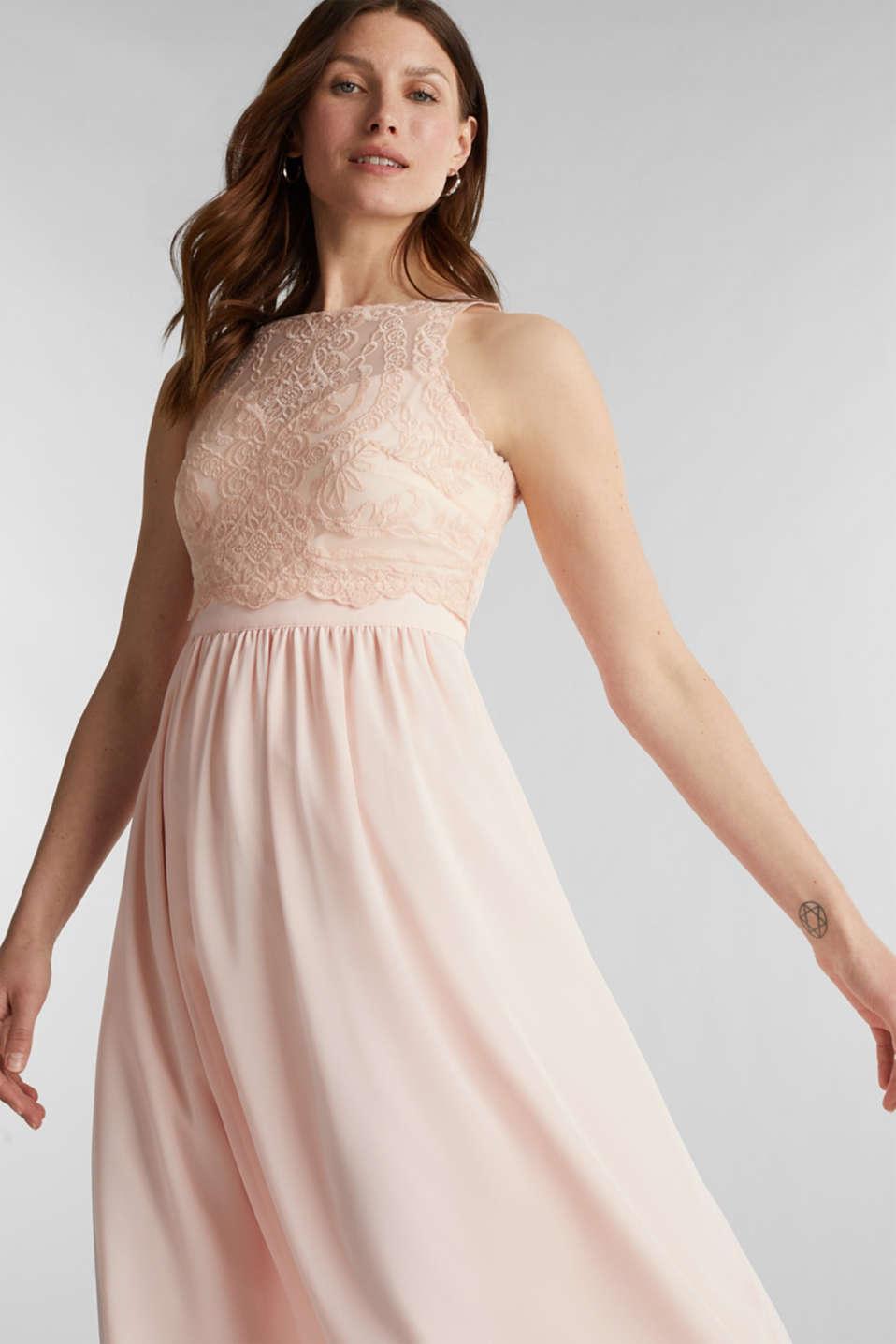 Esprit - Midi-Kleid aus Chiffon und Spitze im Online Shop ...