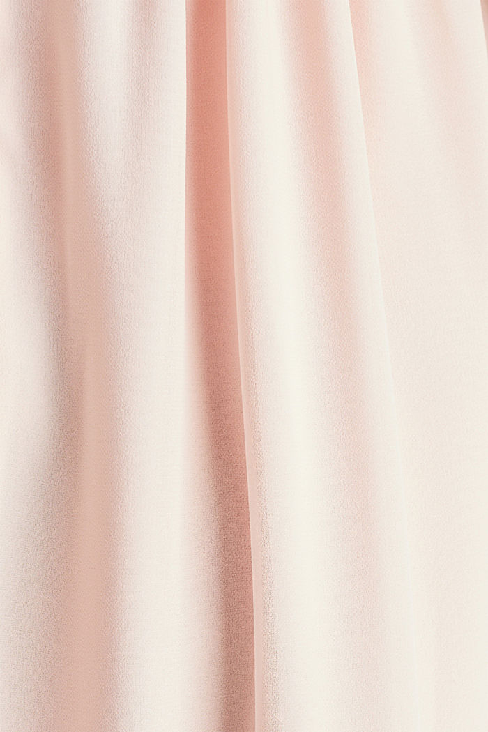 Midi dress made of chiffon and lace, PASTEL PINK, detail image number 4