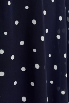 Chiffon dress with dot or flower print, NAVY 3, detail