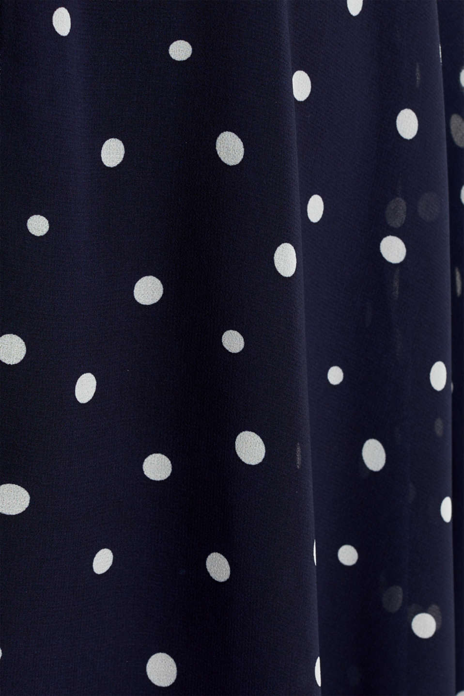 Chiffon dress with dot or flower print, NAVY 3, detail image number 4