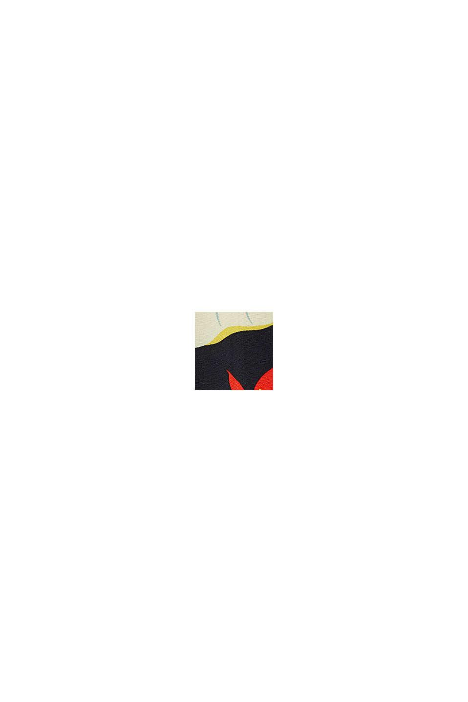 Top blusato in LENZING™ ECOVERO™, BLACK, swatch
