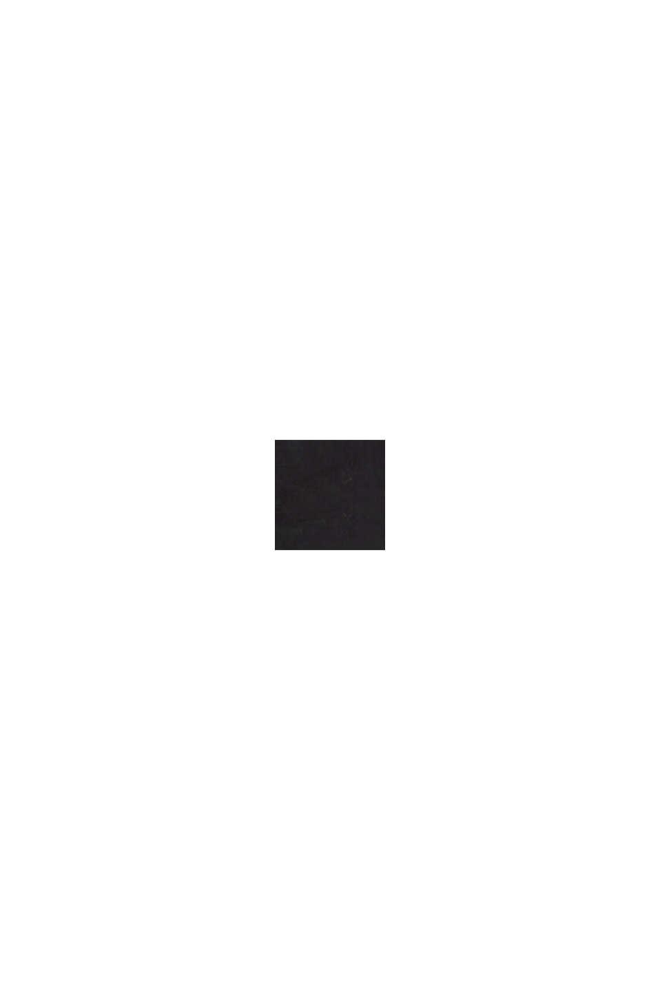 Af hør: top med krave, BLACK, swatch