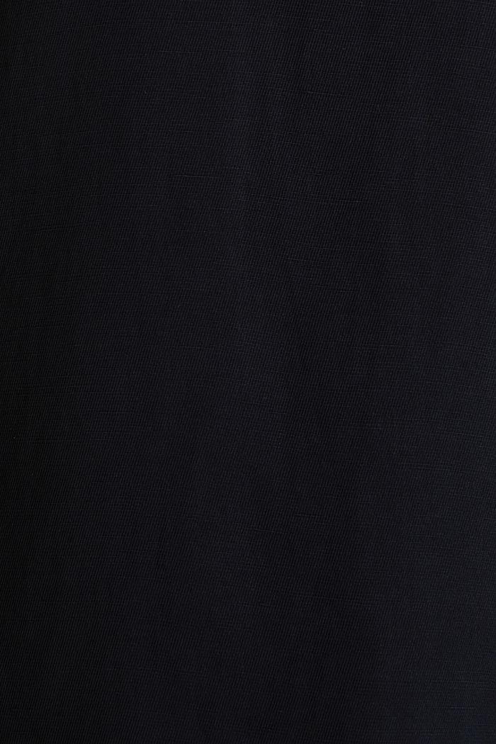 Mit Leinen: Web-Top mit Bogenkanten, BLACK, detail image number 4