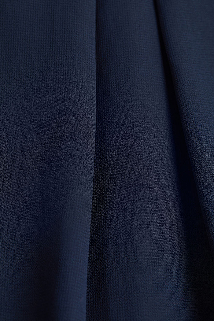 Layered blouse top made of crêpe chiffon, NAVY, detail image number 4