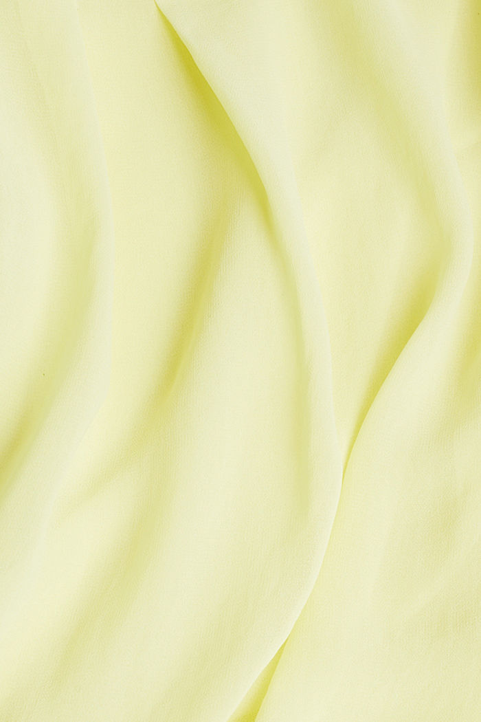 Layer-Blusentop aus Crêpe-Chiffon, LIME YELLOW, detail image number 4