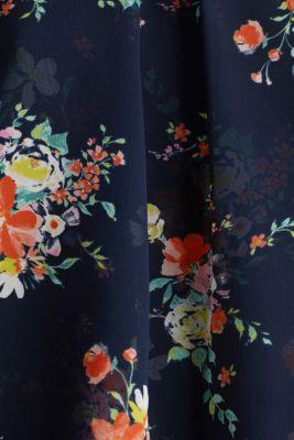 Layered blouse top made of crêpe chiffon, NAVY 4, detail