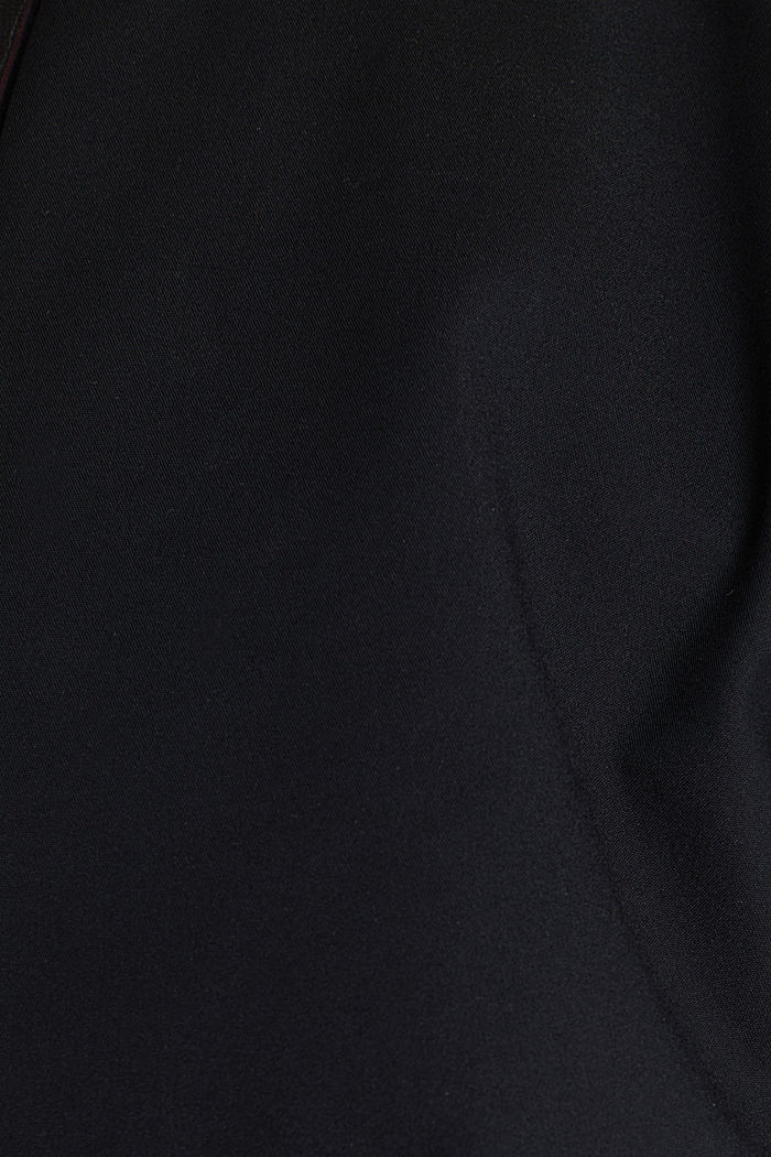Stretch blazer with wavy edges, BLACK, detail image number 4