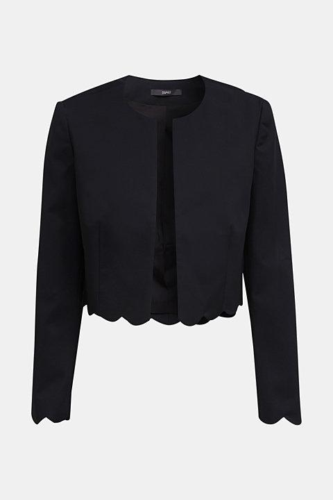 Stretch blazer with wavy edges