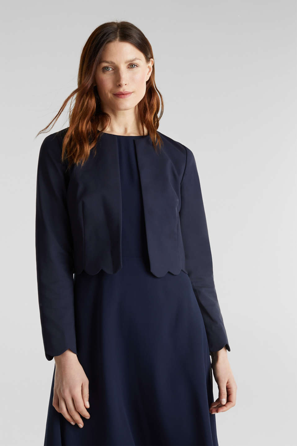 Esprit - Blazer stretch à bords ondulés