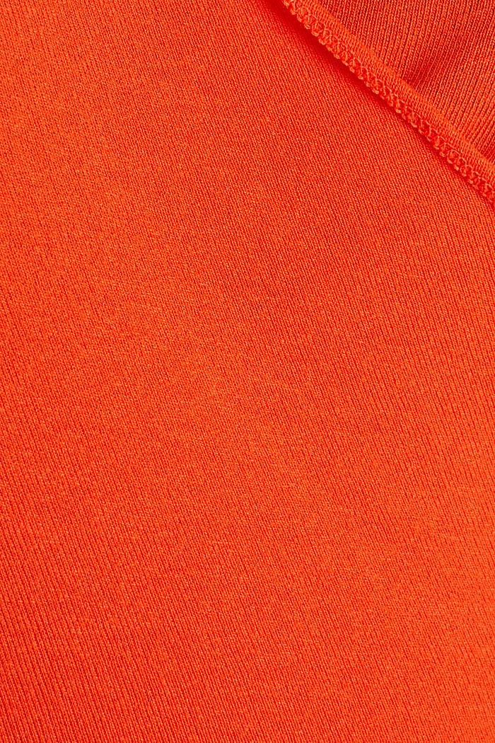 Stretch-Longsleeve in Wickel-Optik, RED ORANGE, detail image number 4