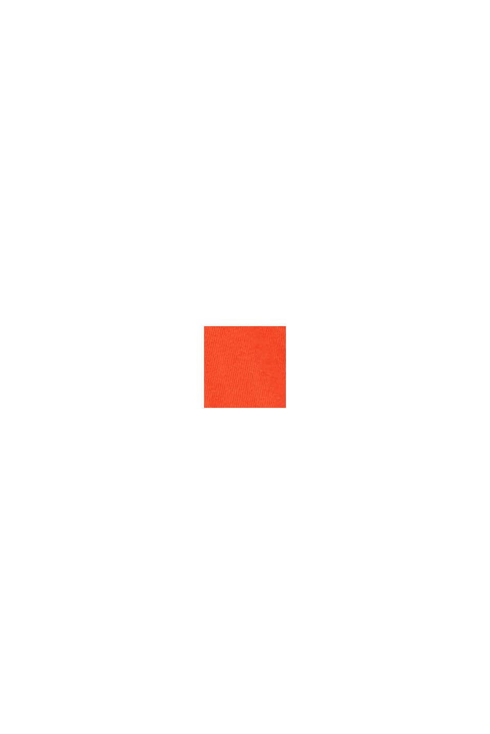 Longsleeve met wikkeleffect en stretch, RED ORANGE, swatch