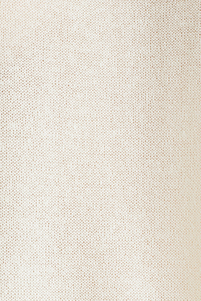 With linen: Short-sleeved jumper, OFF WHITE, detail image number 4