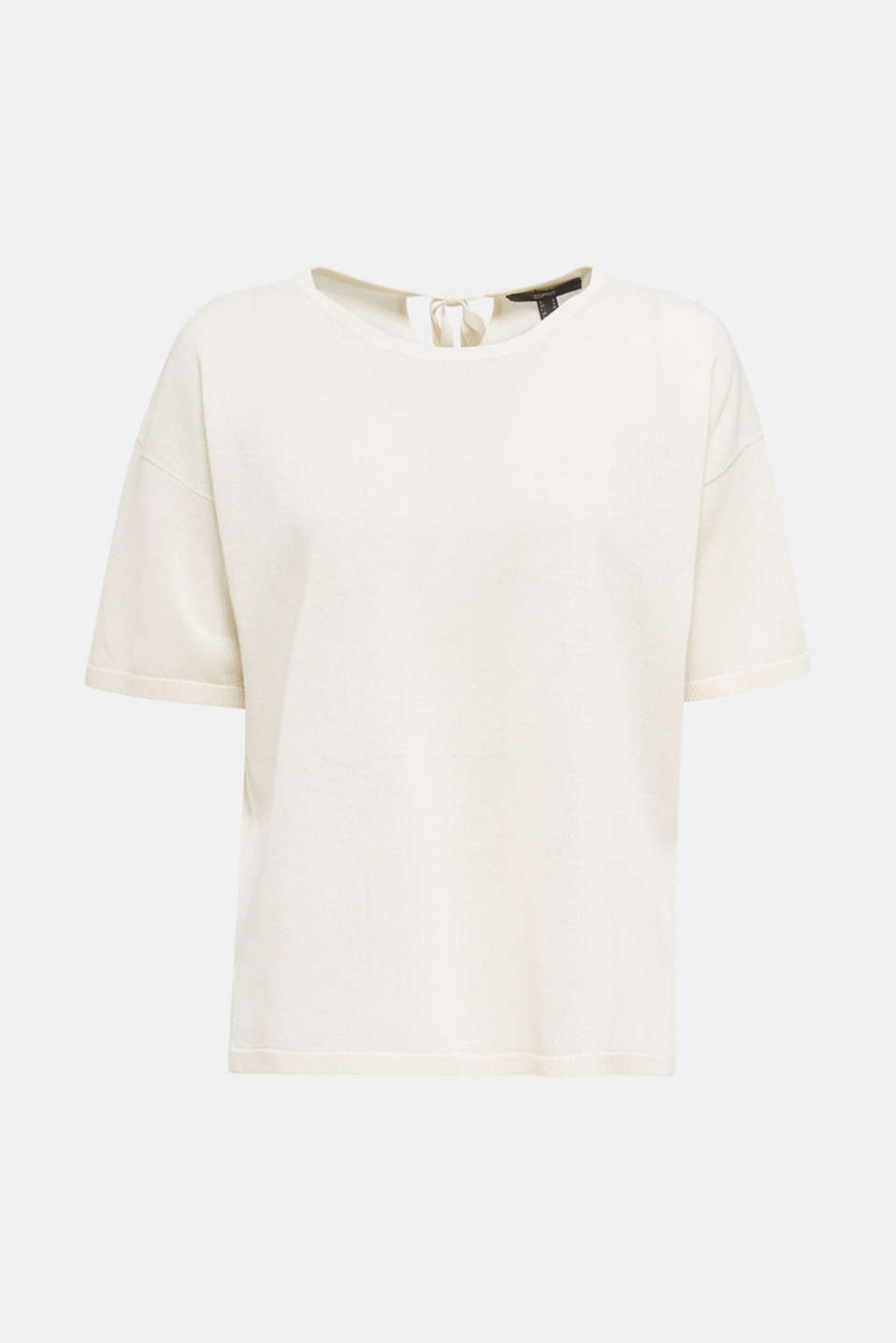With linen: Short-sleeved jumper, OFF WHITE, detail image number 7