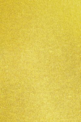 With linen: Short-sleeved jumper, YELLOW, detail