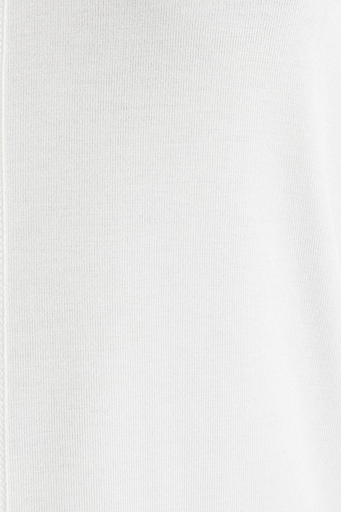 Stretch-Tanktop mit Satin-Details, OFF WHITE, detail image number 4