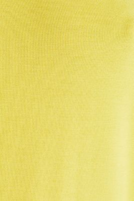 Stretchy tank top with satin details, YELLOW, detail