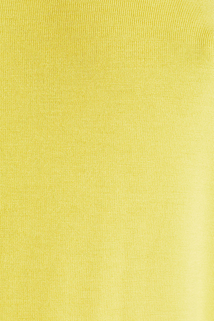 Stretchy tank top with satin details, YELLOW, detail image number 4