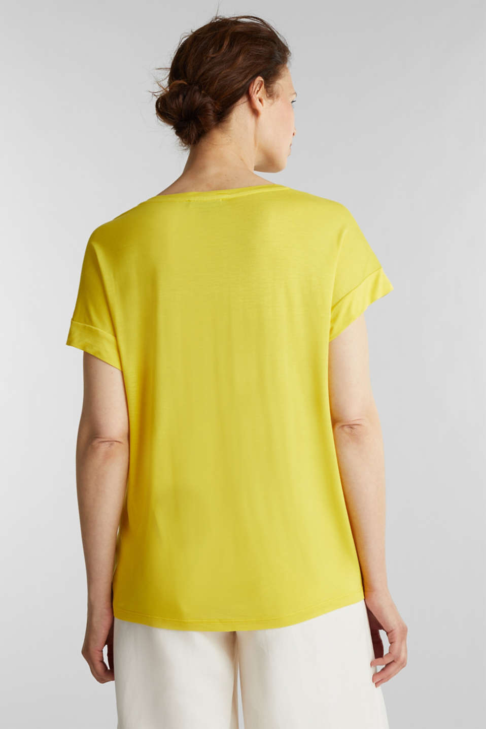 T-shirt with a floral print, YELLOW, detail image number 3