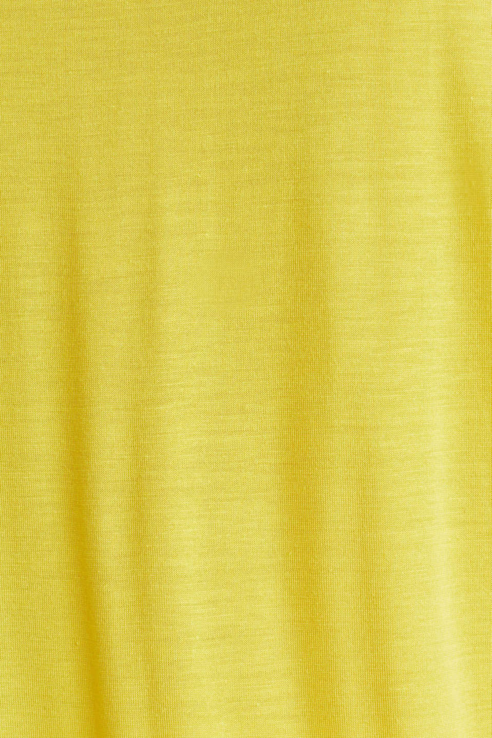 T-shirt with a floral print, YELLOW, detail image number 4