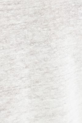 Made of linen: Draped top, OFF WHITE, detail