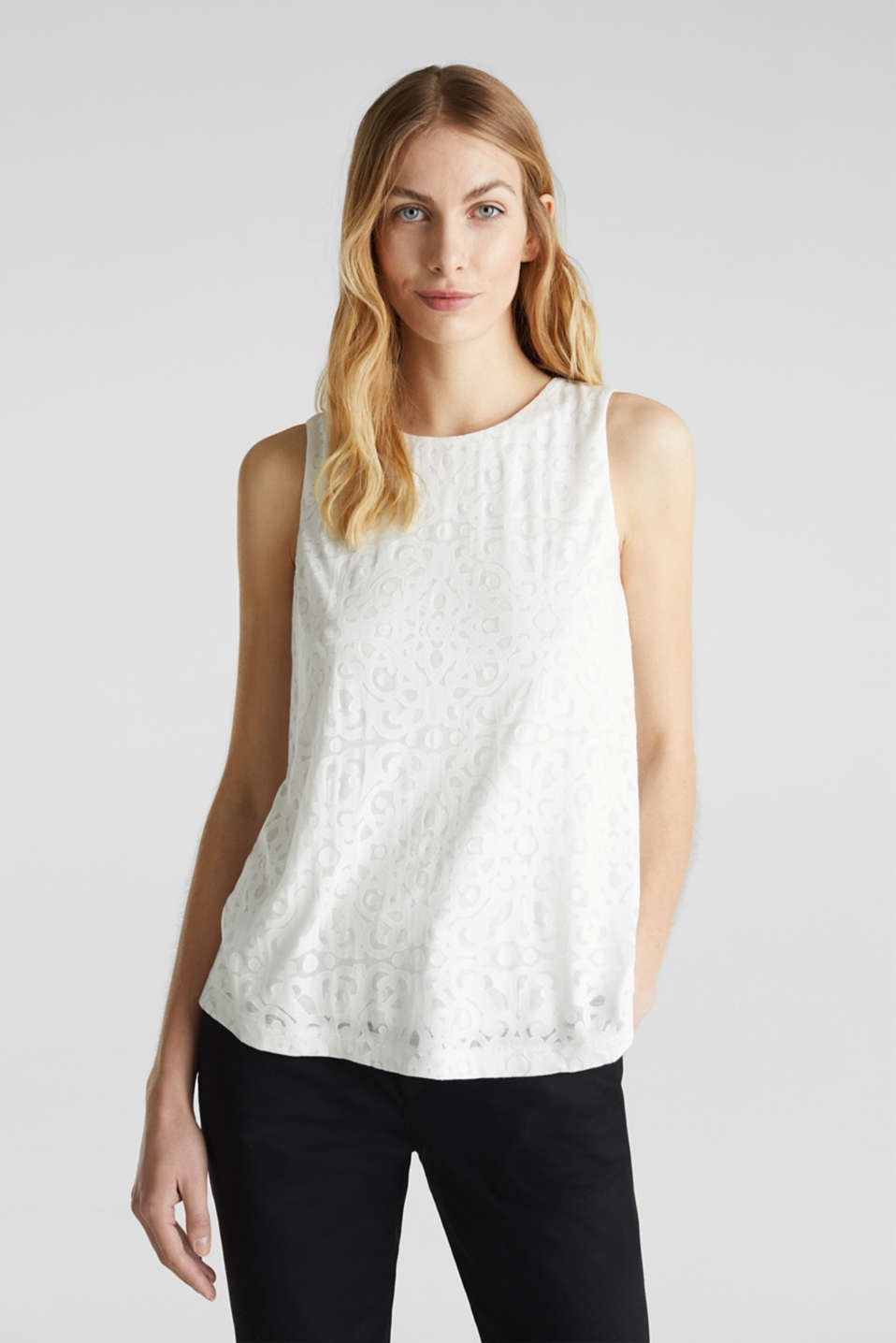 Esprit - Top con estampado ornamental
