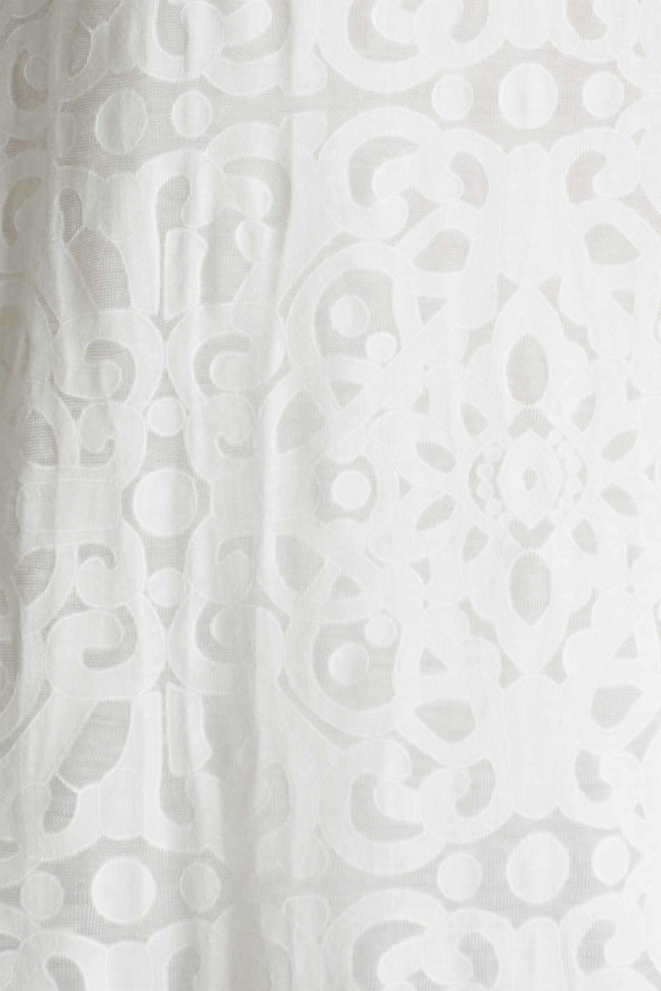 Blouse top with an ornamental pattern, OFF WHITE, detail image number 4