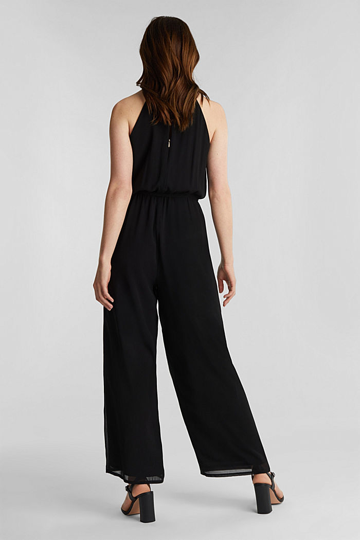 Recycled: chiffon jumpsuit, BLACK, detail image number 3