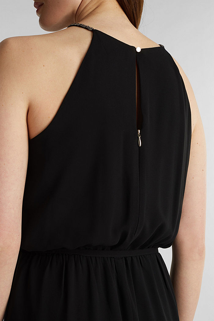 Recycled: chiffon jumpsuit, BLACK, detail image number 2
