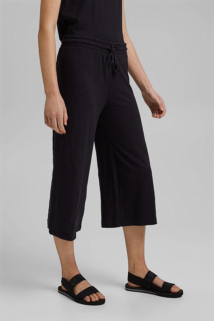 Sweatshirt culottes made of 100% organic cotton, BLACK, detail image number 0